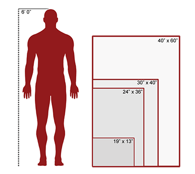 EXHIBIT BOARD SIZES